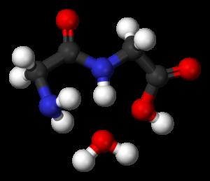 Glycine condensation 2 3D balls